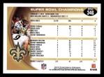 2010 Topps #346   Super Bowl Champions Back Thumbnail