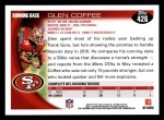 2010 Topps #426  Glen Coffee  Back Thumbnail