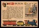 1955 Topps Rails & Sails #27   Rack-Rail Locomotive Back Thumbnail
