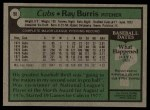 1979 Topps #98  Ray Burris  Back Thumbnail