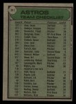 1979 Topps #381   -  Bill Virdon Astros Team Checklist Back Thumbnail