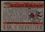 1957 Topps #218  Ray Jablonski  Back Thumbnail