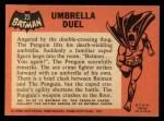 1966 Topps Batman Black Bat #23   Umbrella Duel Back Thumbnail