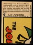 1966 Topps Batman Red Bat #25   In the Bat Lab Back Thumbnail