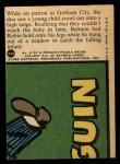 1966 Topps Batman Red Bat #34   The Batman Baby Sitter Back Thumbnail