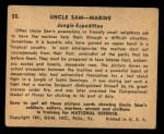 1941 Gum Inc Uncle Sam #35   Jungle Expedition Back Thumbnail