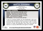 2011 Topps #137   Seahawks Team Back Thumbnail