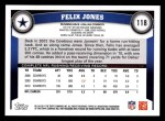 2011 Topps #118  Felix Jones  Back Thumbnail