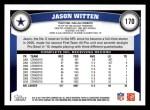 2011 Topps #170  Jason Witten  Back Thumbnail