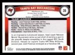 2011 Topps #35   Buccaneers Team Back Thumbnail