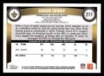 2011 Topps #211  Chris Ivory  Back Thumbnail