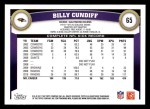2011 Topps #65  Billy Cundiff  Back Thumbnail