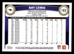 2011 Topps #183  Ray Lewis  Back Thumbnail