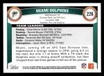 2011 Topps #226   Dolphins Team Back Thumbnail