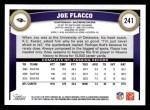 2011 Topps #241  Joe Flacco  Back Thumbnail