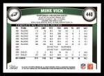 2011 Topps #440  Michael Vick  Back Thumbnail