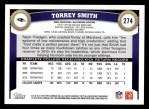 2011 Topps #274  Torrey Smith  Back Thumbnail
