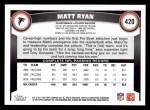 2011 Topps #420  Matt Ryan  Back Thumbnail