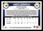 2011 Topps #361  James Laurinaitis  Back Thumbnail
