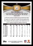 2012 Topps #10  Troy Polamalu  Back Thumbnail