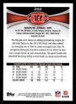 2012 Topps #202  Marvin Jones  Back Thumbnail