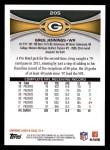 2012 Topps #205  Greg Jennings  Back Thumbnail