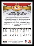2012 Topps #224  Jamaal Charles  Back Thumbnail