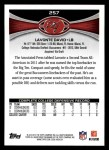2012 Topps #257  Lavonte David  Back Thumbnail