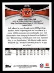 2012 Topps #275  Andy Dalton  Back Thumbnail