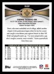 2012 Topps #342  Pierre Thomas  Back Thumbnail