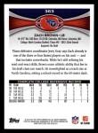 2012 Topps #363  Zach Brown  Back Thumbnail