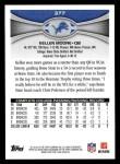 2012 Topps #377  Kellen Moore  Back Thumbnail