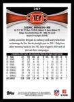 2012 Topps #397  Cedric Benson  Back Thumbnail