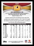 2012 Topps #428  Rex Grossman  Back Thumbnail