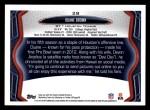 2013 Topps #28  Duane Brown  Back Thumbnail