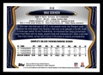 2013 Topps #32  Brad Sorensen   Back Thumbnail