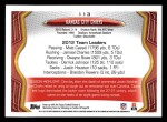2013 Topps #113   Kansas City Chiefs Team Back Thumbnail