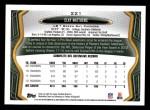 2013 Topps #221  Clay Matthews  Back Thumbnail