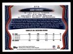 2013 Topps #373  Aaron Hernandez  Back Thumbnail