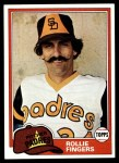 1981 Topps #229  Rollie Fingers  Front Thumbnail