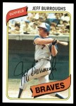 1980 Topps #545  Jeff Burroughs  Front Thumbnail