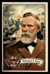 1956 Topps U.S. Presidents #22  Rutherford B. Hayes  Front Thumbnail