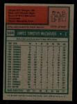 1975 Topps Mini #586  Tim McCarver  Back Thumbnail