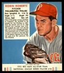 1952 Red Man #18 NL Robin Roberts  Front Thumbnail