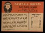 1961 Fleer #102  General Crowder  Back Thumbnail