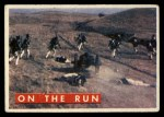 1956 Topps Davy Crockett Green Back #61   On the Run  Front Thumbnail