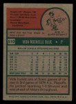 1975 Topps Mini #510  Vida Blue  Back Thumbnail