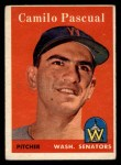 1958 Topps #219  Camilo Pascual  Front Thumbnail