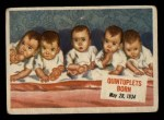 1954 Topps Scoop #64   Quintuplets Born Front Thumbnail