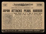 1954 Topps Scoop #19   Pearl Harbor Attacked  Back Thumbnail